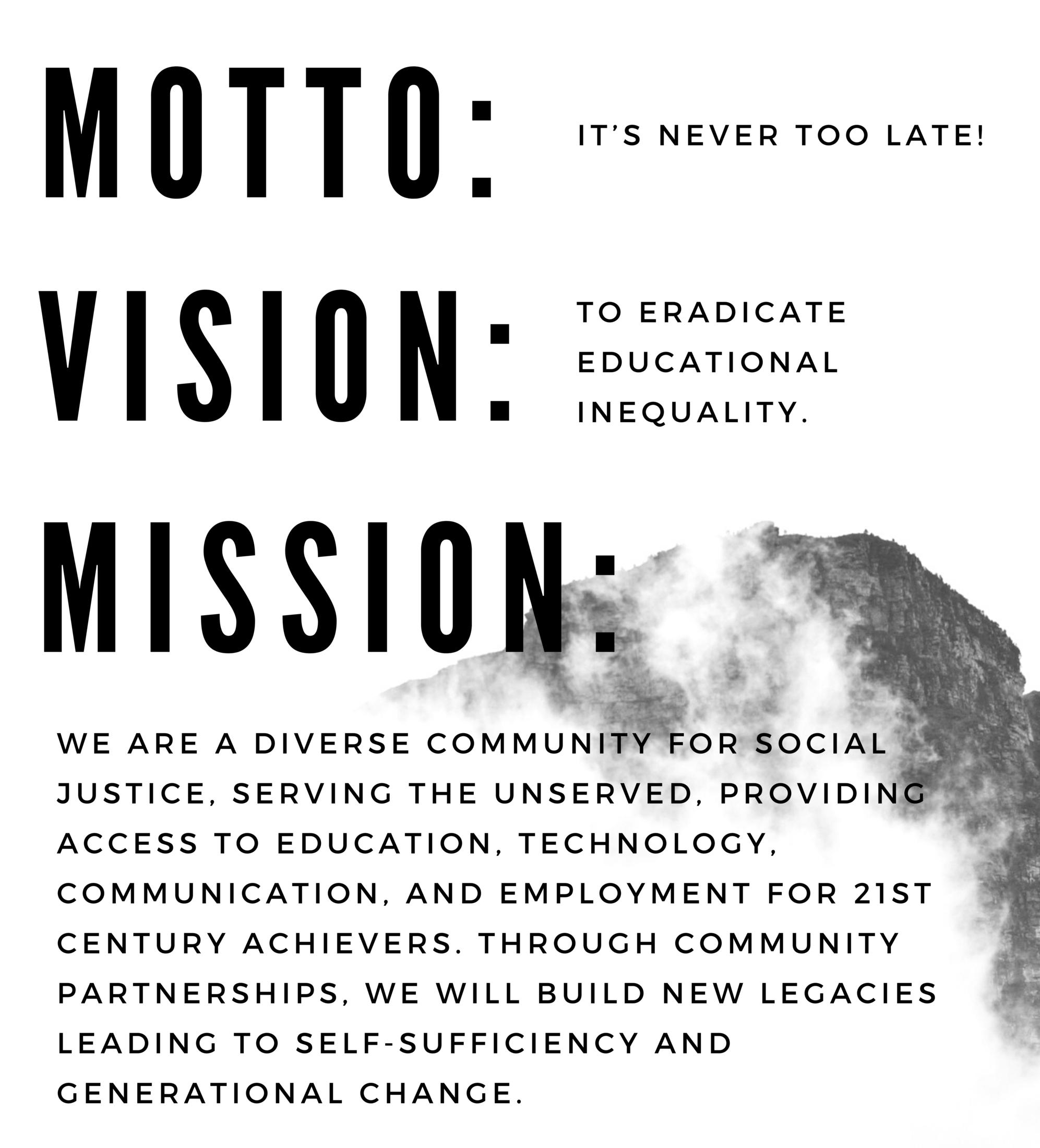 Motto, Mission, Vision