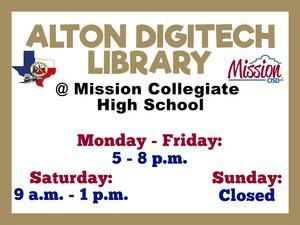 Digi-Tech Library sign