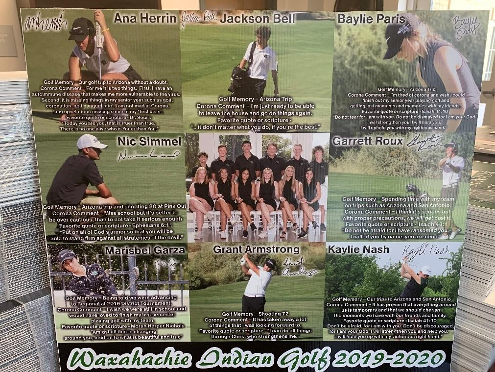 collage of golf players
