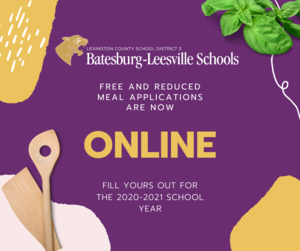 Online Free/Reduced Meal Applications Now Available
