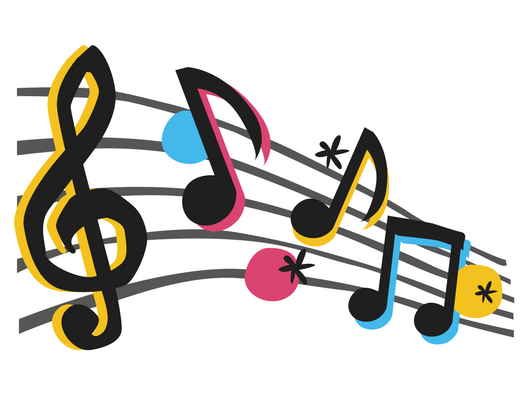 a picture of music notes