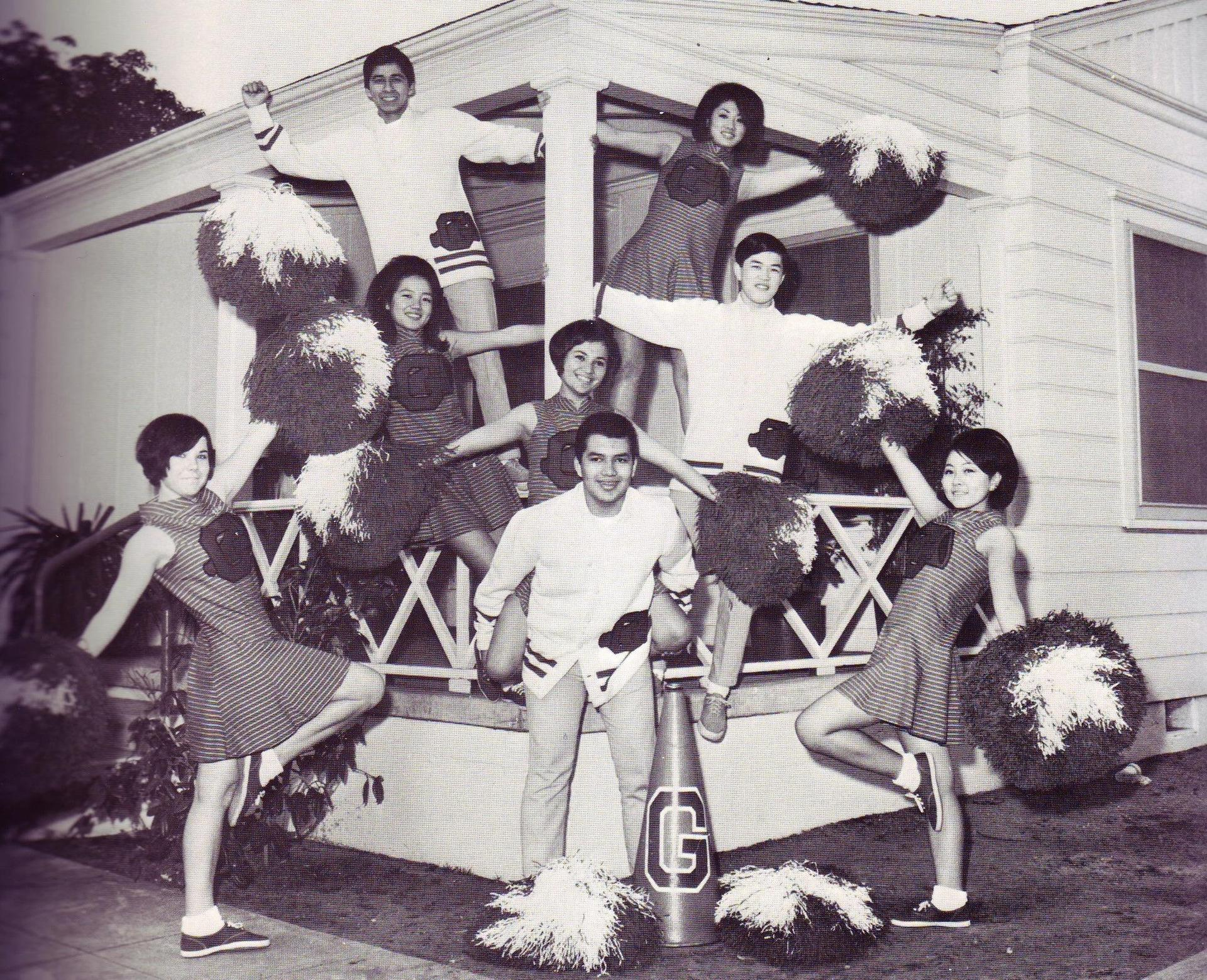 Cheerleaders at the Reiterman House