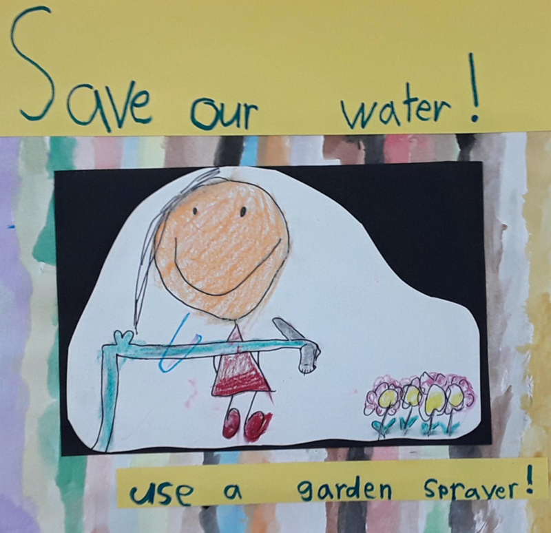 Save Water poster at City Mill