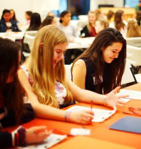 Model UN students