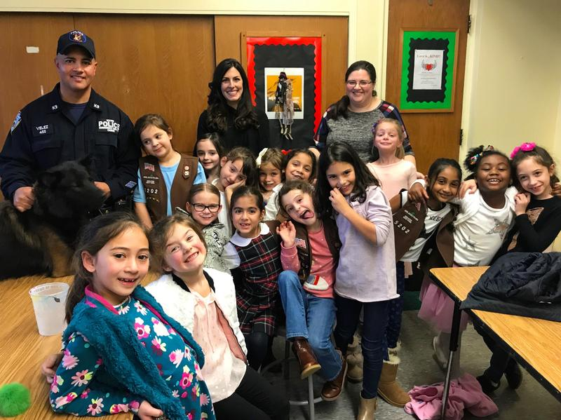 2nd Grade Girl Scout Troop visits with NYPD K-9 Unit Featured Photo