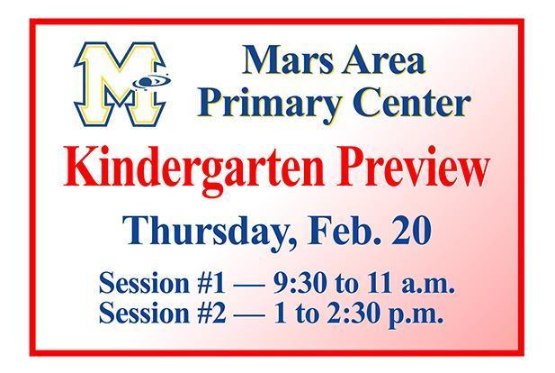 Mars Area Primary Center Kindergarten Preview