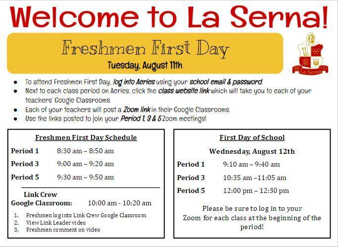 Welcome to La Serna!