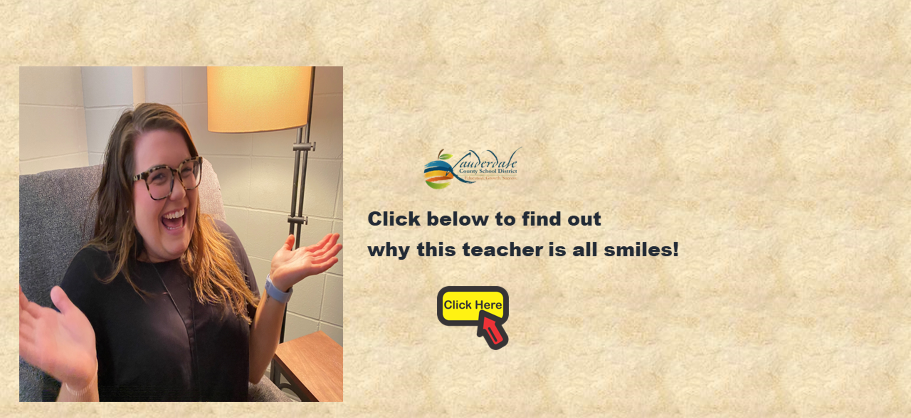 LCSD Decompression Room Teacher's Reaction Photo