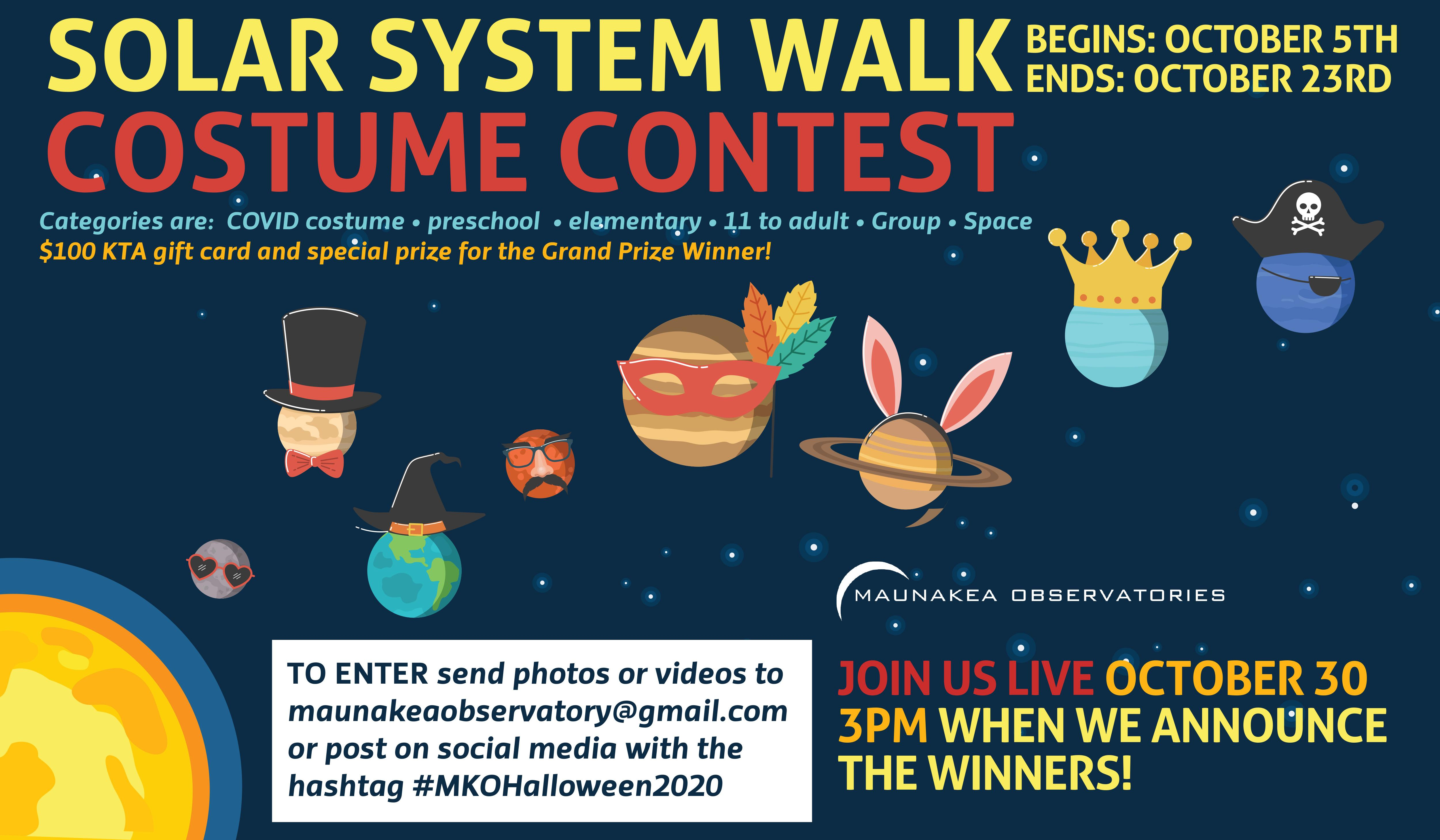 Solar Walk Costume Contest Flyer