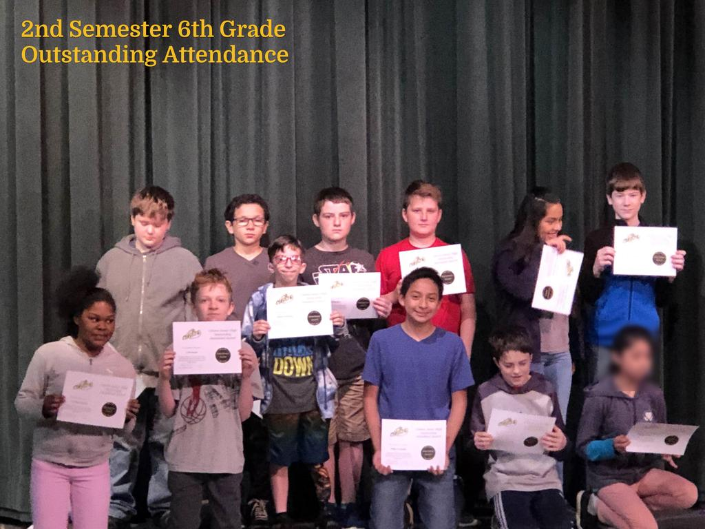 S2 6th Grade Outstanding Attendance