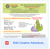 Kids Creative Adventure Flyer