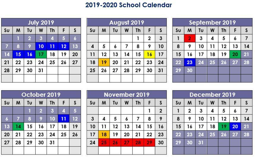 Academic Calendar – Admissions – Youngsville Academy