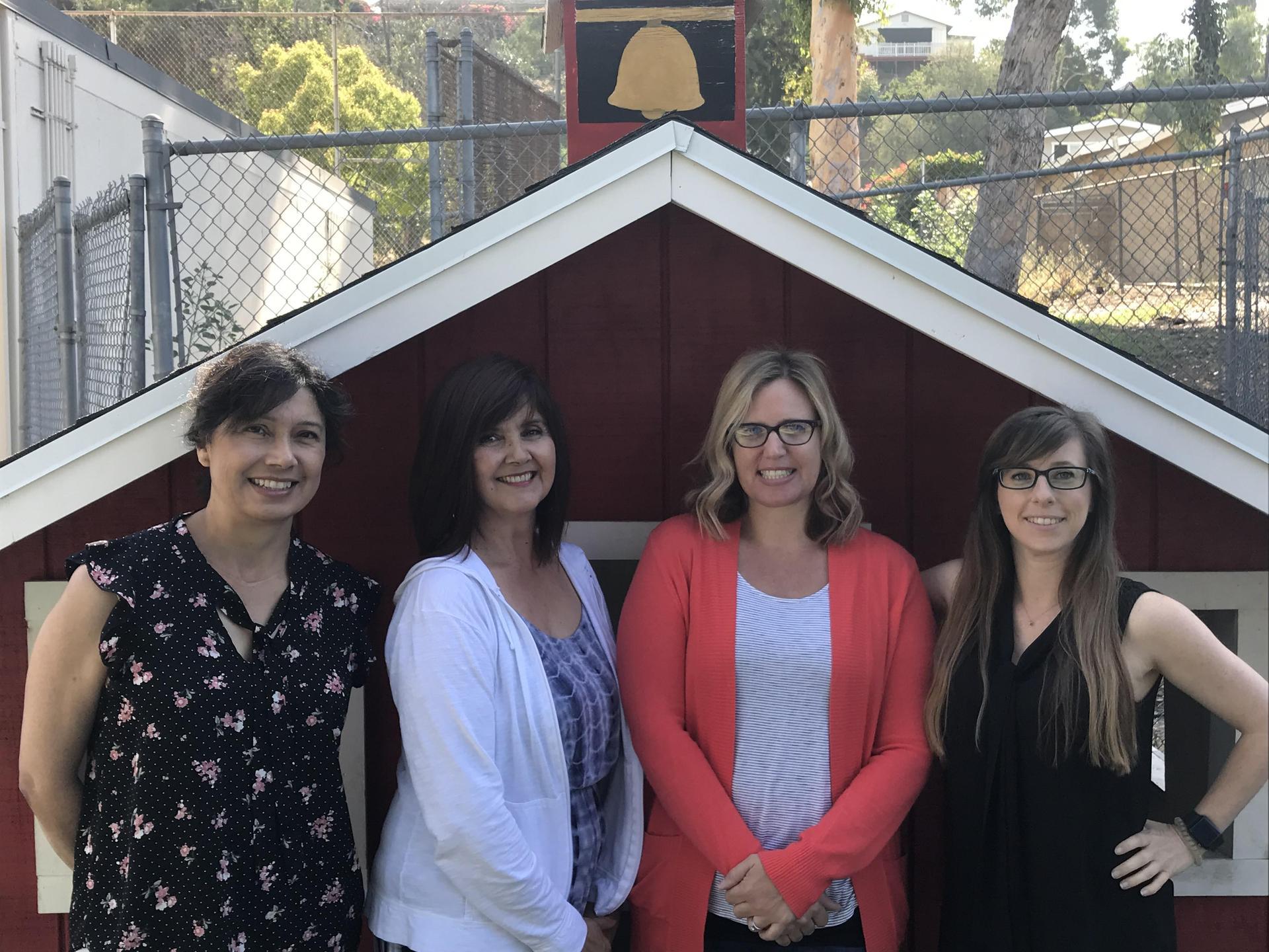 Kindergarten Team: Mrs. Gonzalez, Mrs. Mendoza, Mrs. Jones and Ms. Mello