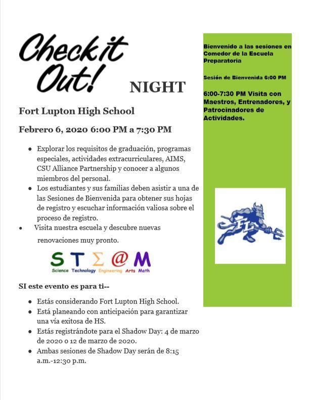 FLHS Spanish Check it out Night Flier