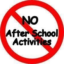 ALL After School Activities and Activity Buses Cancelled Today, 1/10/2020 Thumbnail Image