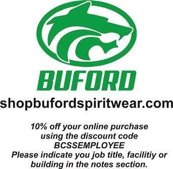 2021 BCS Discounts Buford Spirit Wear