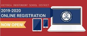 VISD 2019-2020 online registration now open banner