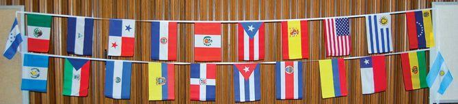 Flags of the 22 Spanish-speaking countries