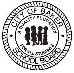 a logo of the City of Baker School Board