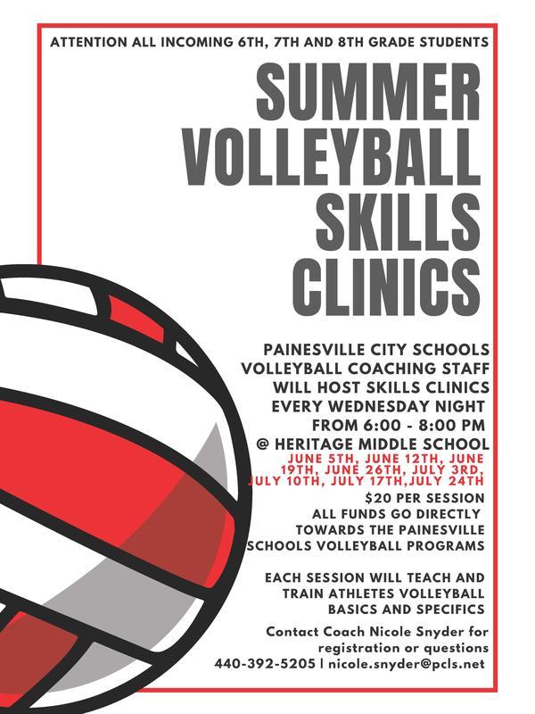 Summer Volleyball Skills Clinics Thumbnail Image