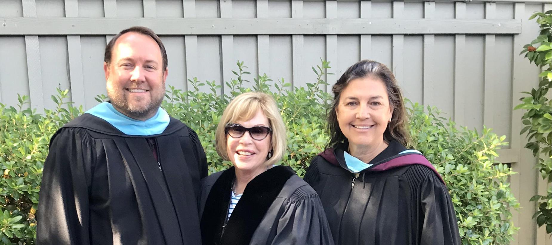 Mr. Schiermeyer, Dr. Bruton, Ms. Lahey at Graduation