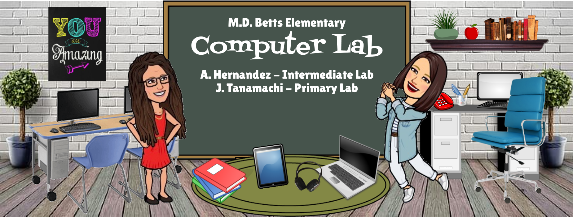 Image of Bitmoji Staff - Computer Lab