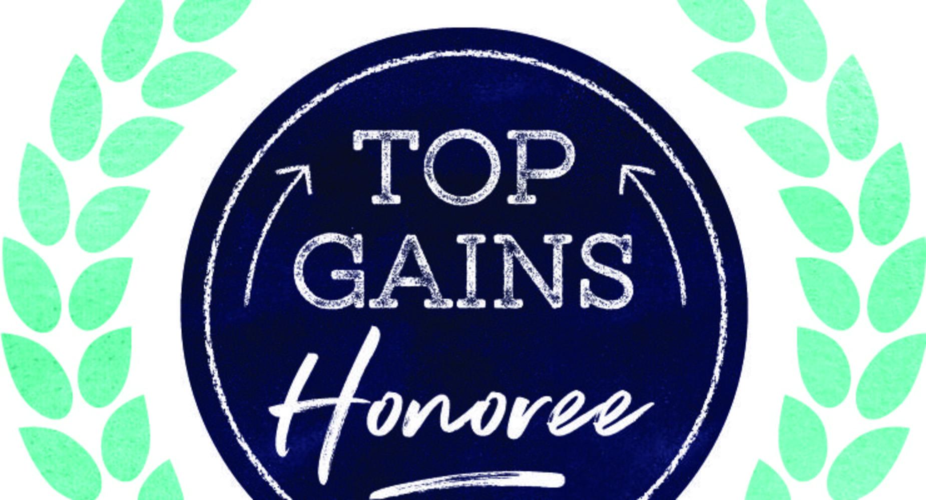 2018 Top Gains Honoree