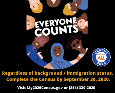 Everyone Counts! Take the US Census Now: https://my2020census.gov/