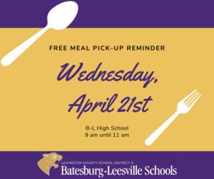Free Meal Pick-Up Reminder