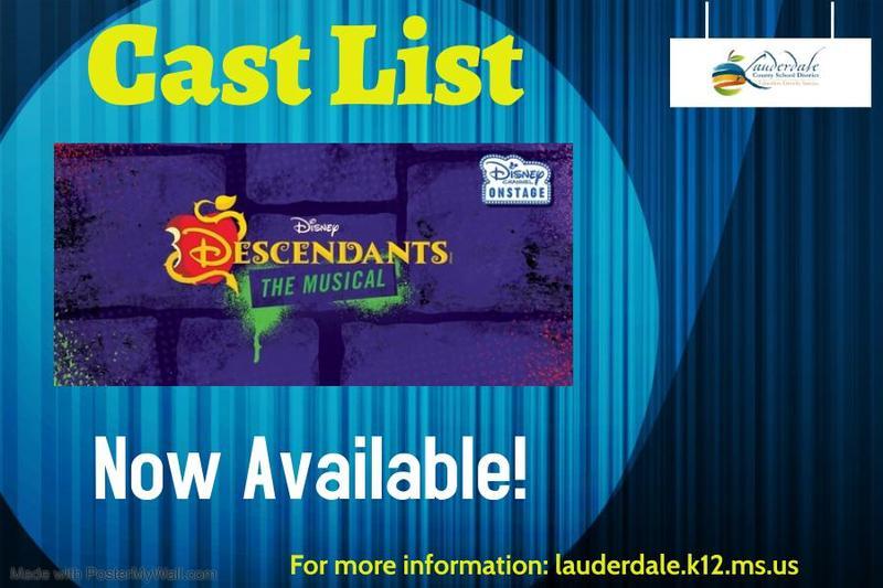 LCSD/MCC 2021 Play Cast List Graphic