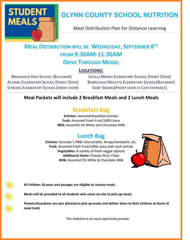 Drive-thru Meal Distribution Flyer
