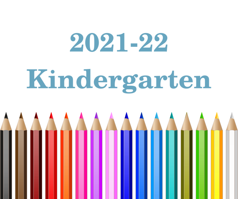 2021-22 kindergarten with colored pencil icons