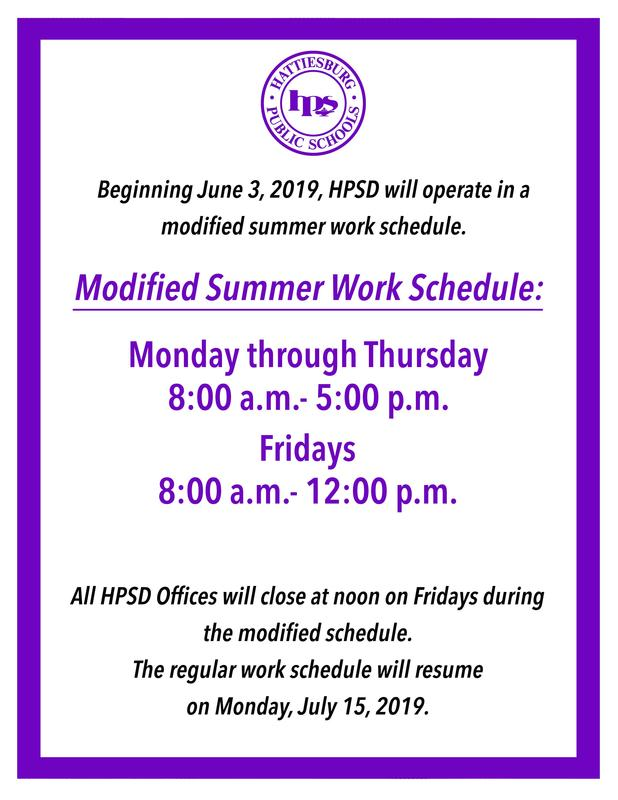 Modified Summer Schedule Begins June 3 Featured Photo