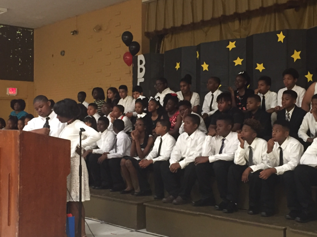 Another photo of the Bakerfield and Baker Heights 5th Grade Graduating Class of 2017