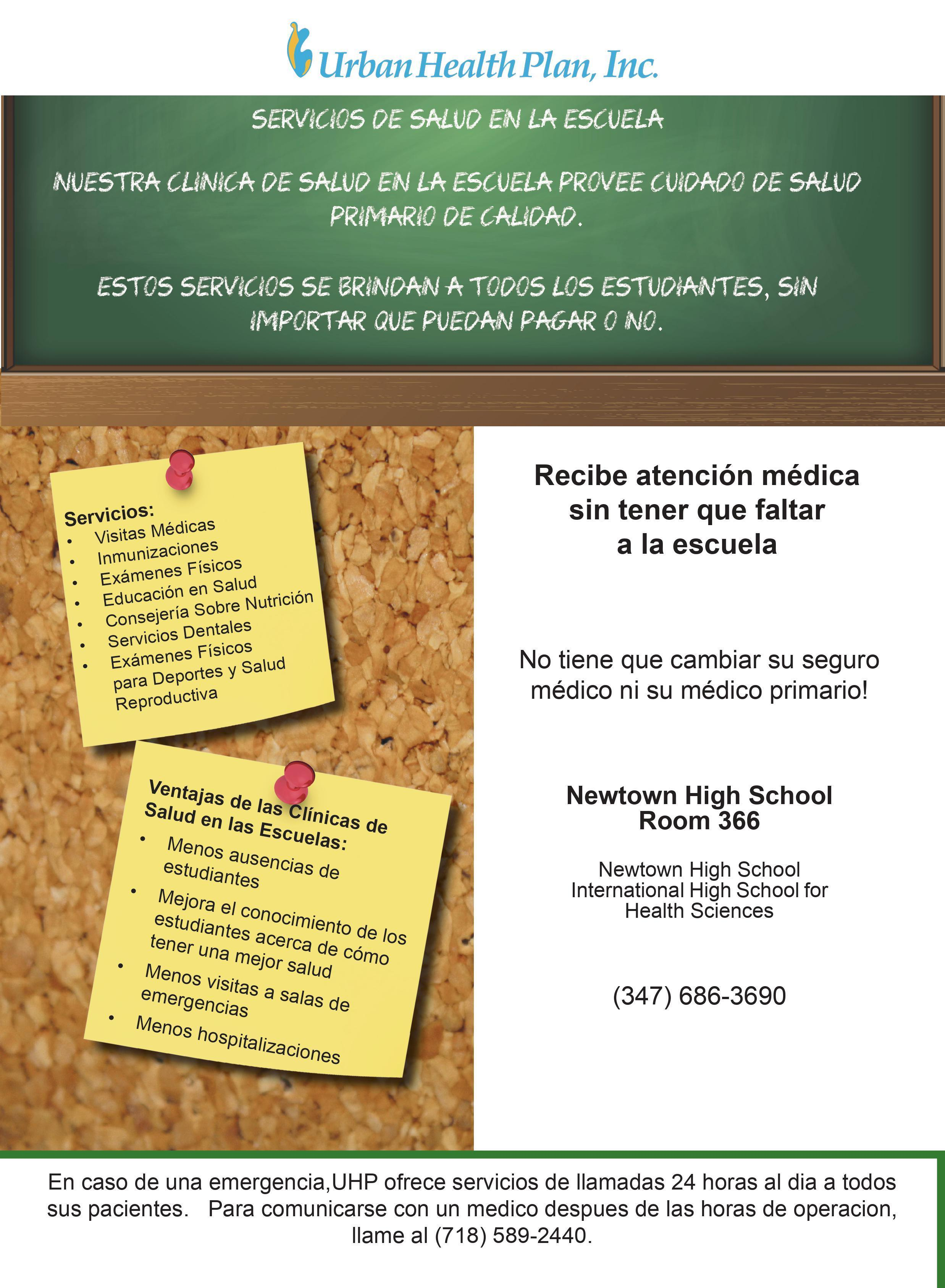 El centro de salud escolar brinda atención médica primaria de calidad independientemente de la capacidad de pago. Llame al 34796863690 para obtener más información.