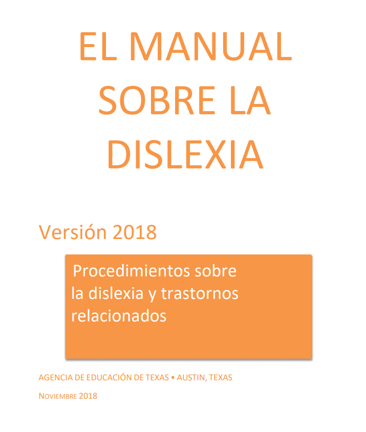 Spanish Dyslexia Handbook, 2018