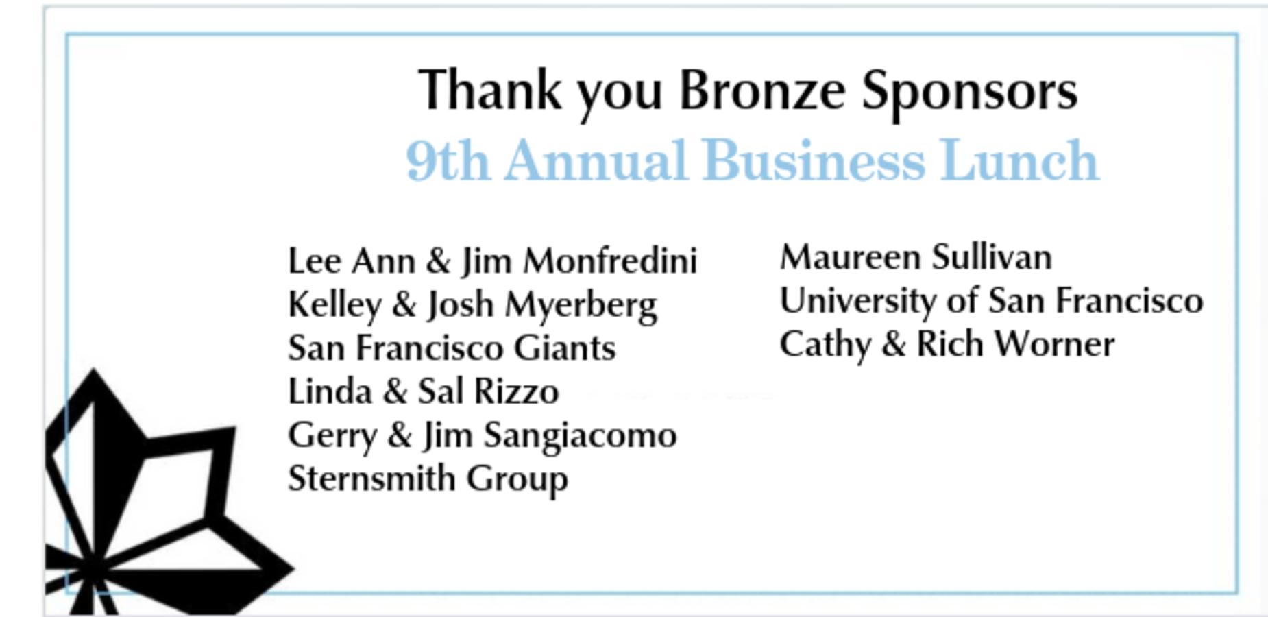 2nd list of Bronze sponsors