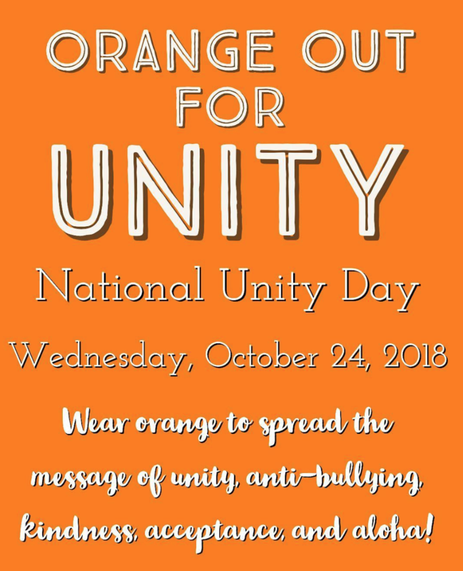 Join Hilo High, Other Schools, and The Hawaii Department of Education in Recognizing Unity Day 2018 Featured Photo