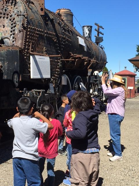 Students at The Northern Pacific Railway Museum