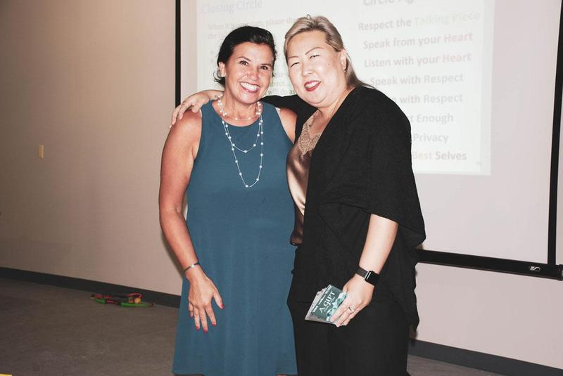 Sue Ha HWIS head of school poses for a picture with Dr. Ellen Connors