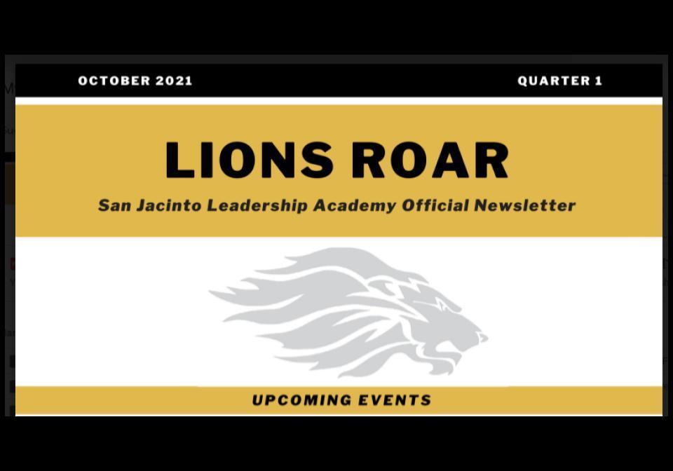 Lions Roar Oct. 2021