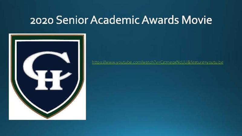 CHHS 2020 Senior Awards Movie