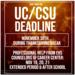 UC/CSU Deadline is Nov 30