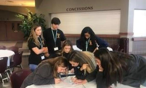 BCHS Beta Club members participated in group leadership sessions at the Beta Leadership Summit in Lafayette, Louisiana