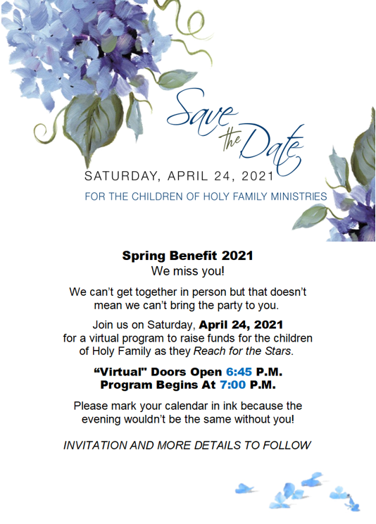 Save the Date Spring Forward 2021