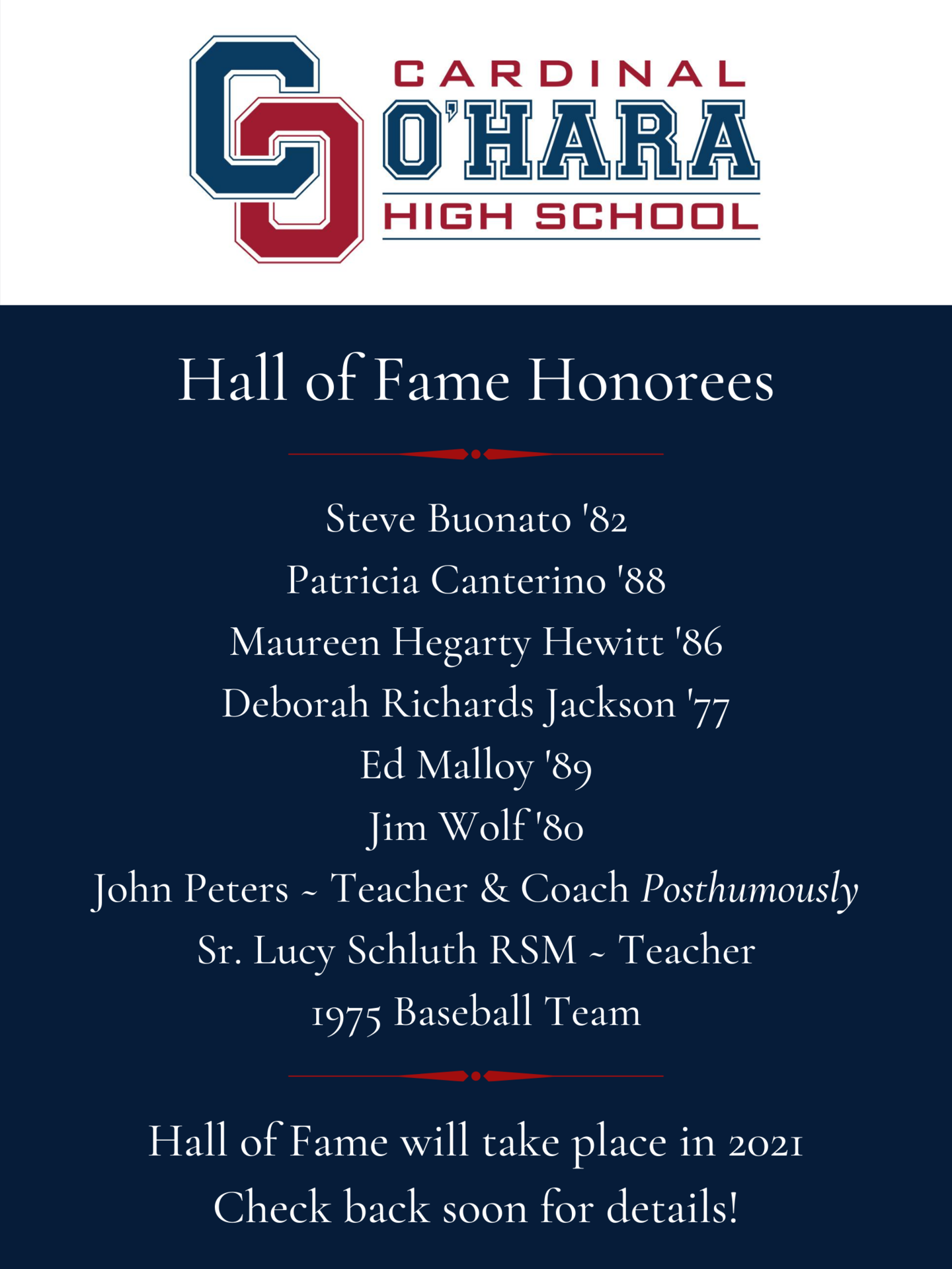 HOF Announcement