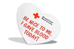 Red Cross Heart - Be Nice to Me I Gave Blood Today