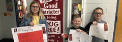 Red Ribbon 2019 Poster Contest Winners (from left to right): Kinsey Tilley, Selby Jackson, Cade Jackson.