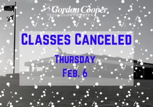 Classes Canceled