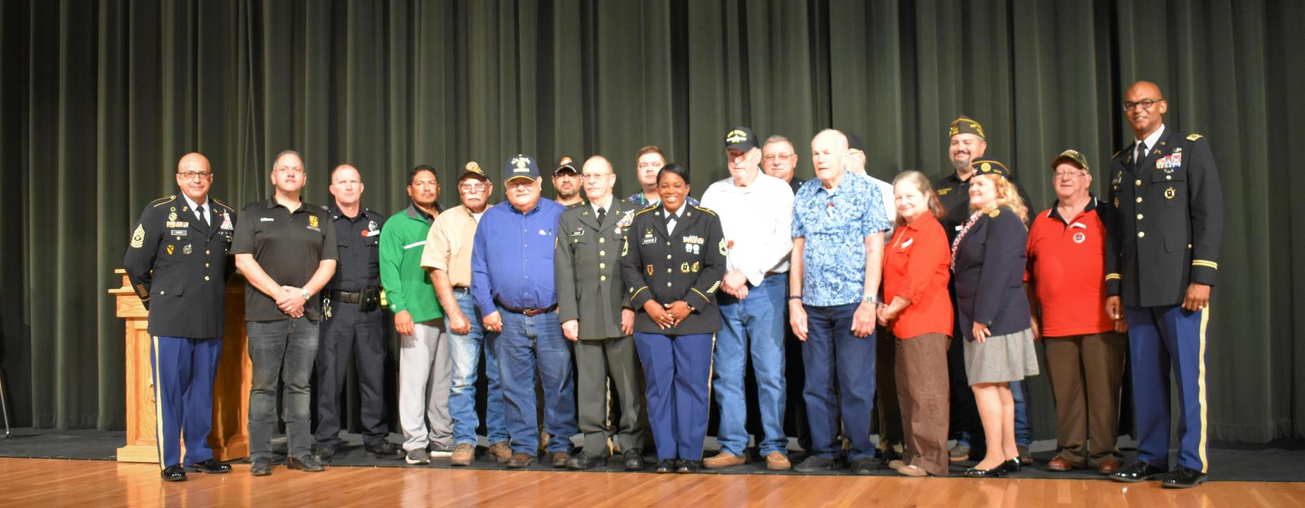 Veterans Day Ceremony at the PAC